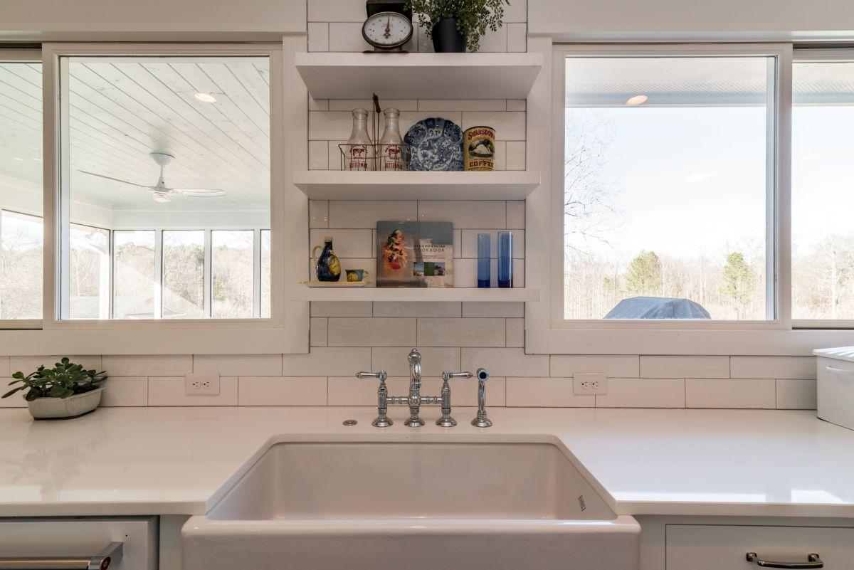 White Farmhouse Kitchen | Atlanta Renovation | StonecrestWorks
