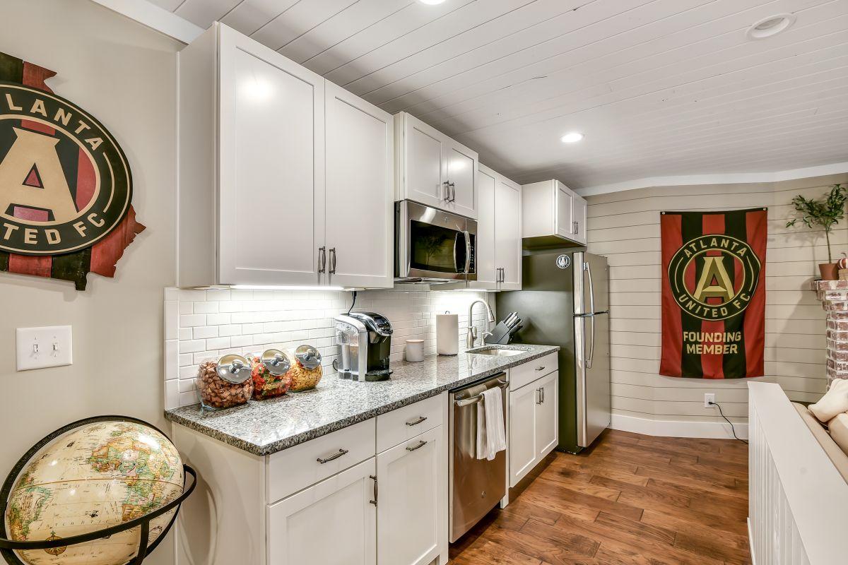 Full Basement Finish with Kitchen | Atlanta Home Remodeling | StonecrestWorks