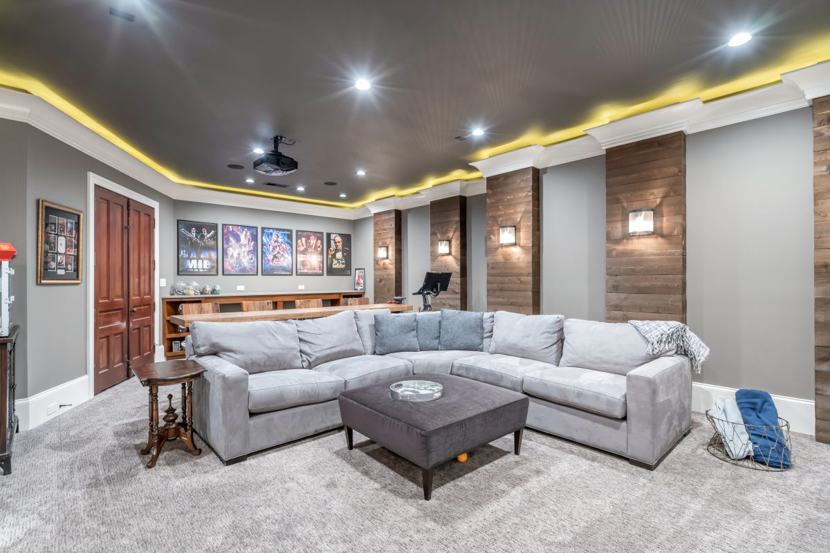 Full Basement Finish with Media Room | Atlanta Home Renovation | StonecrestWorks